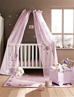Ciel de lit thème fleurs Vertbaudet | Léonore | Déco chambre ...
