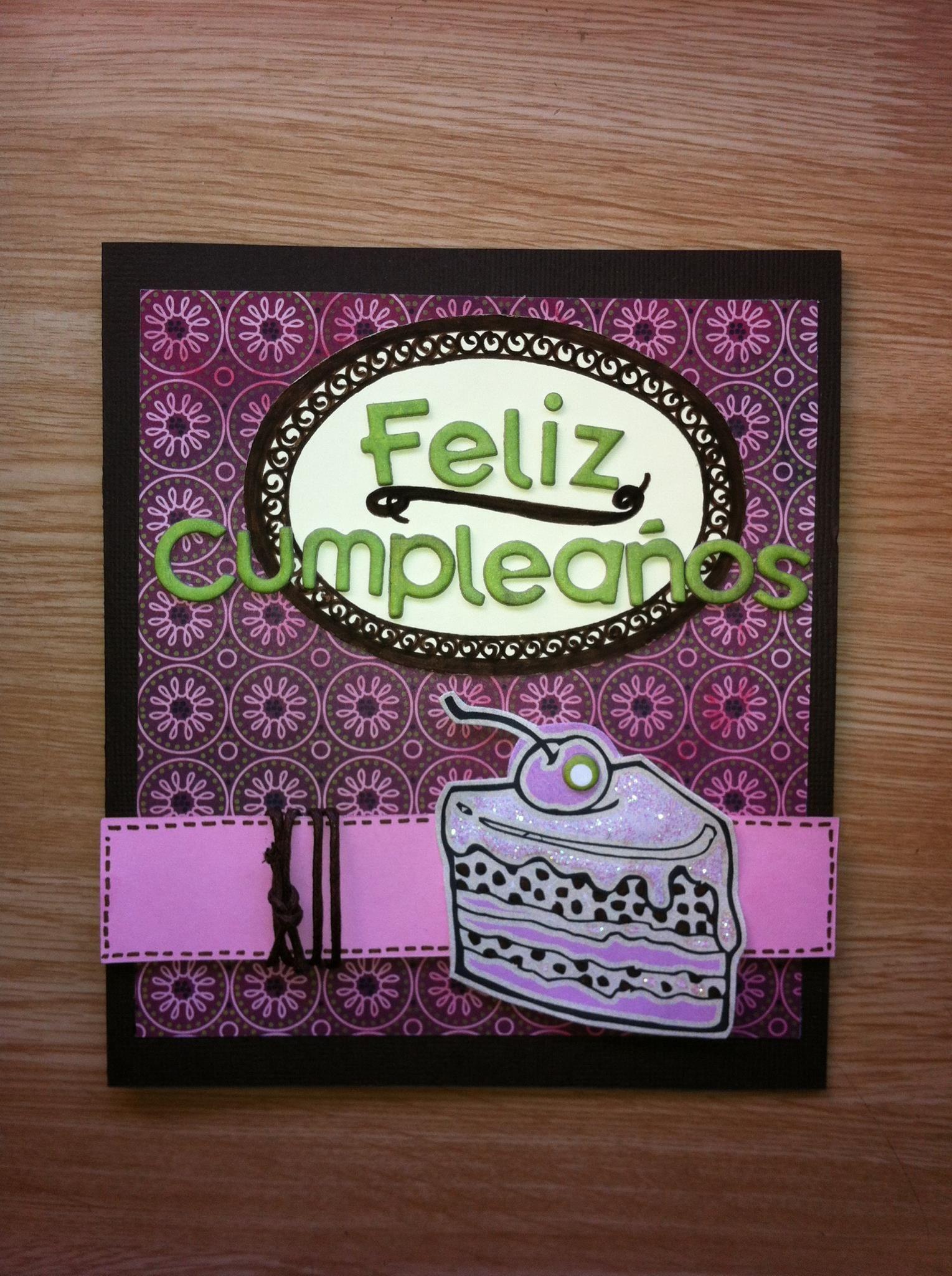 Happy Birthday.  www.scraperias.blogspot.com.es  Leticia Guzmán