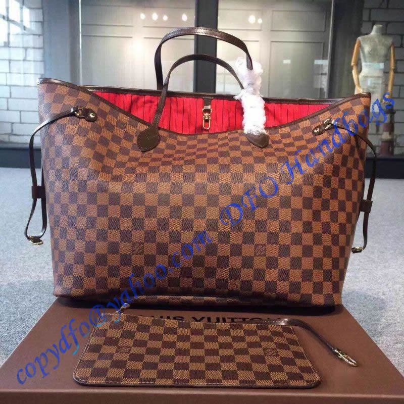 222caad55d35 Louis Vuitton Damier Ebene Neverfull GM N41357