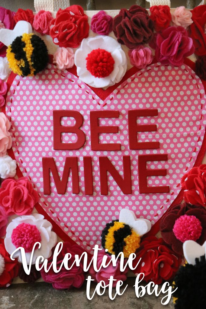 Bee Mine Valentine Tote Bag Bees Fun Valentines Day