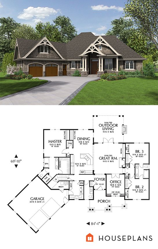Craftsman Style House Plan 3 Beds 2 5 Baths 2233 Sq Ft Plan 48 639 Craftsman Style House Plans Craftsman House Plans New House Plans