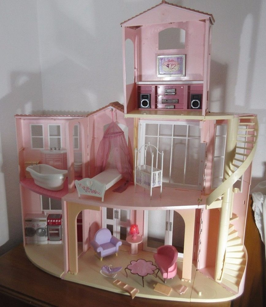 Dreams House Furniture: Details About Mattel Barbie 3 Story Dream House, Doll