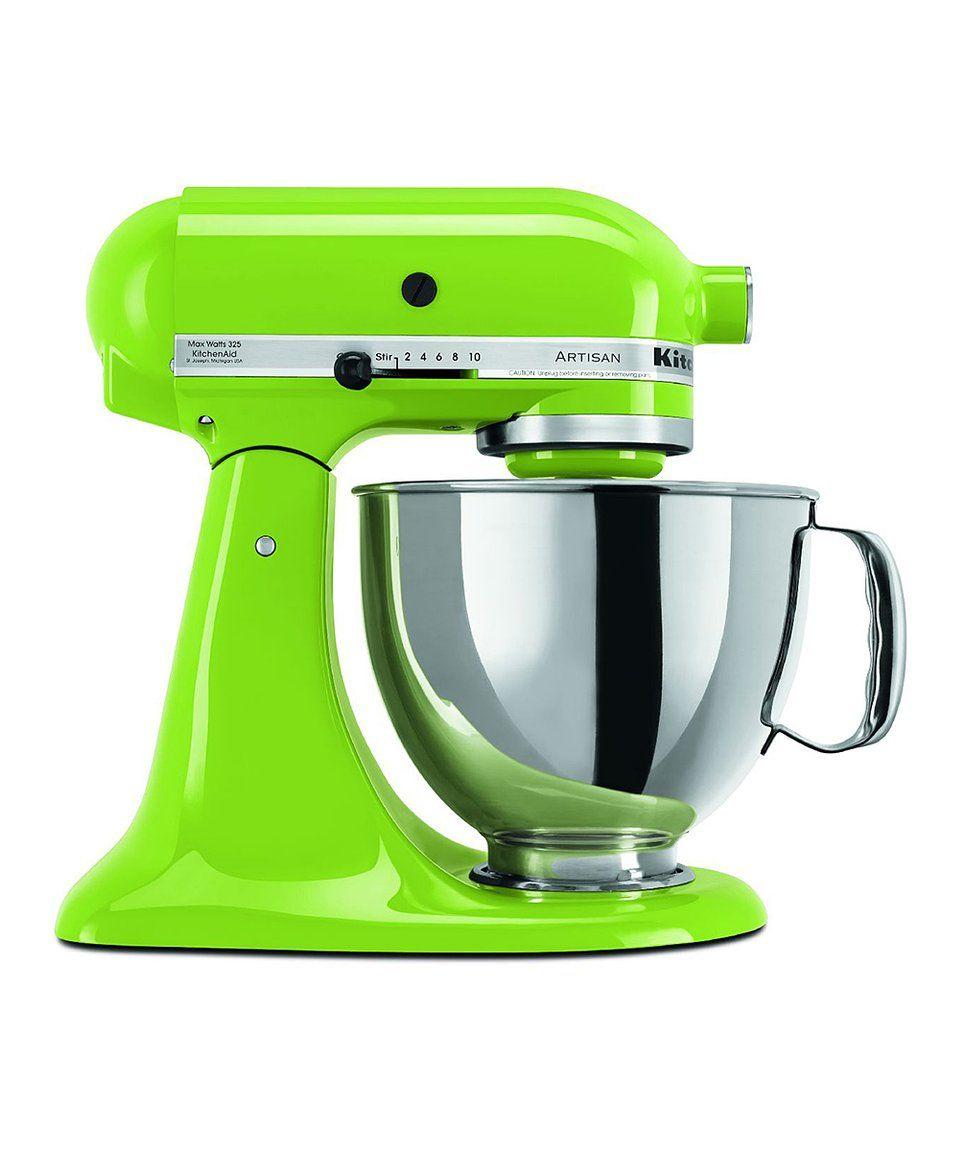 Kitchenaid mixer green apple artisan series fivequart
