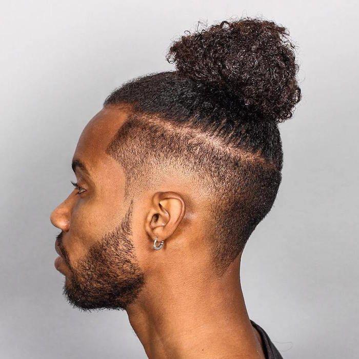 coupe cheveux long homme black