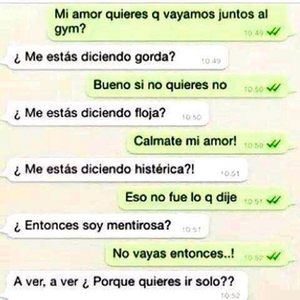 Conversaciones Por Whatsapp Con Tu Novia Chiste De Novios Memes Espanol Graciosos Conversaciones Graciosas
