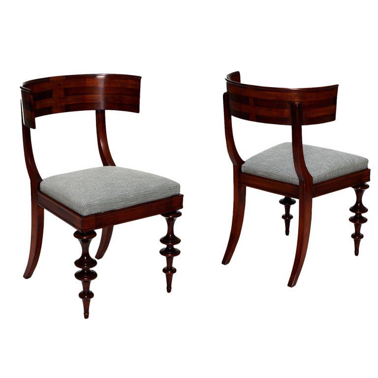 Modern Klismos Chair: This Extraordinary Pair Of Danish Klismos-style Chairs