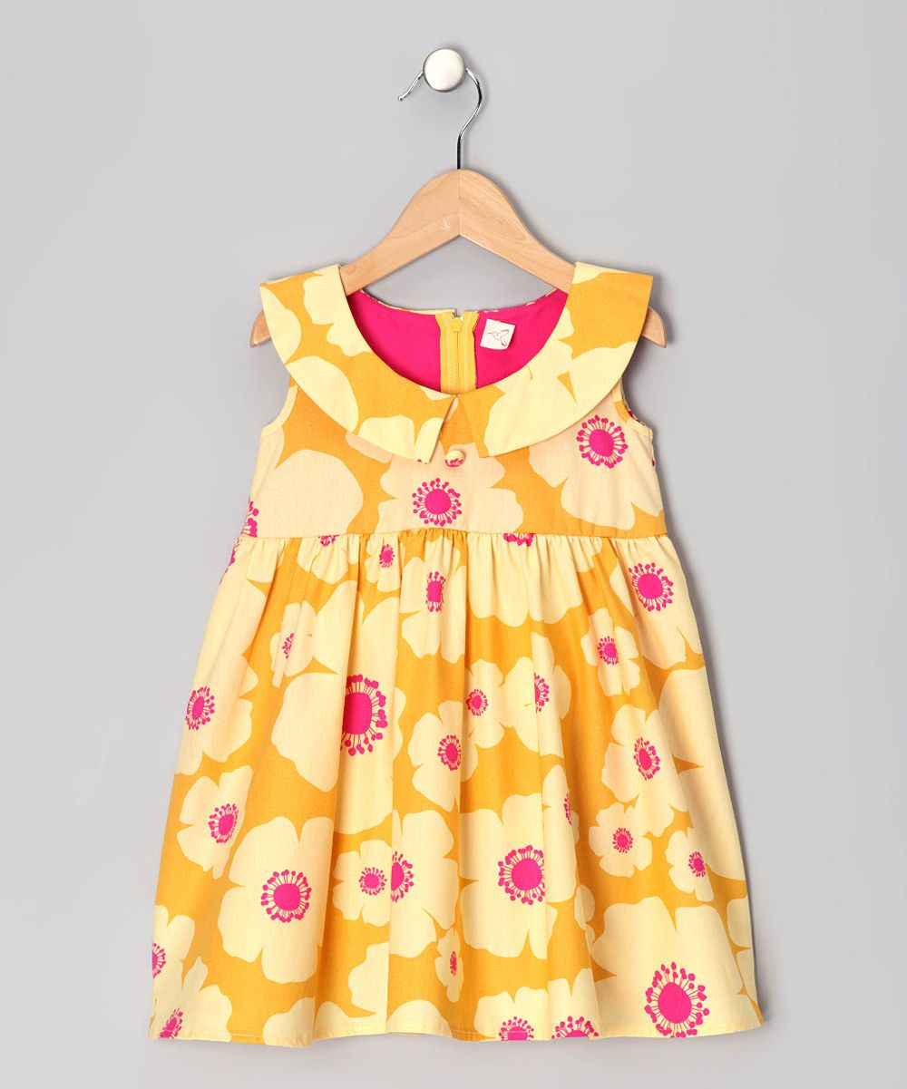 Yellow dress kids  zulily  baby clothes  Pinterest  Baby swag Kids clothing and