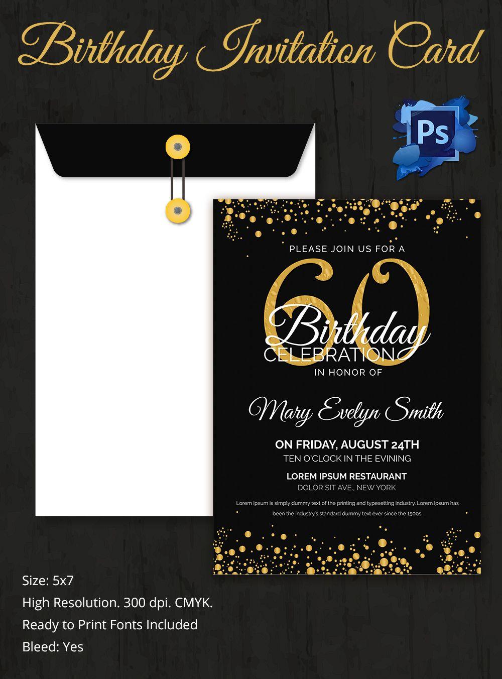 Psd Ai Word Free Premium Templates 60th Birthday Invitations Party Invite Template 40th Birthday Invitations
