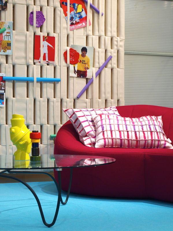 """Cushions"""" stripe"""" pink at Cilo, design interior shop in Zutphen, Holland"""