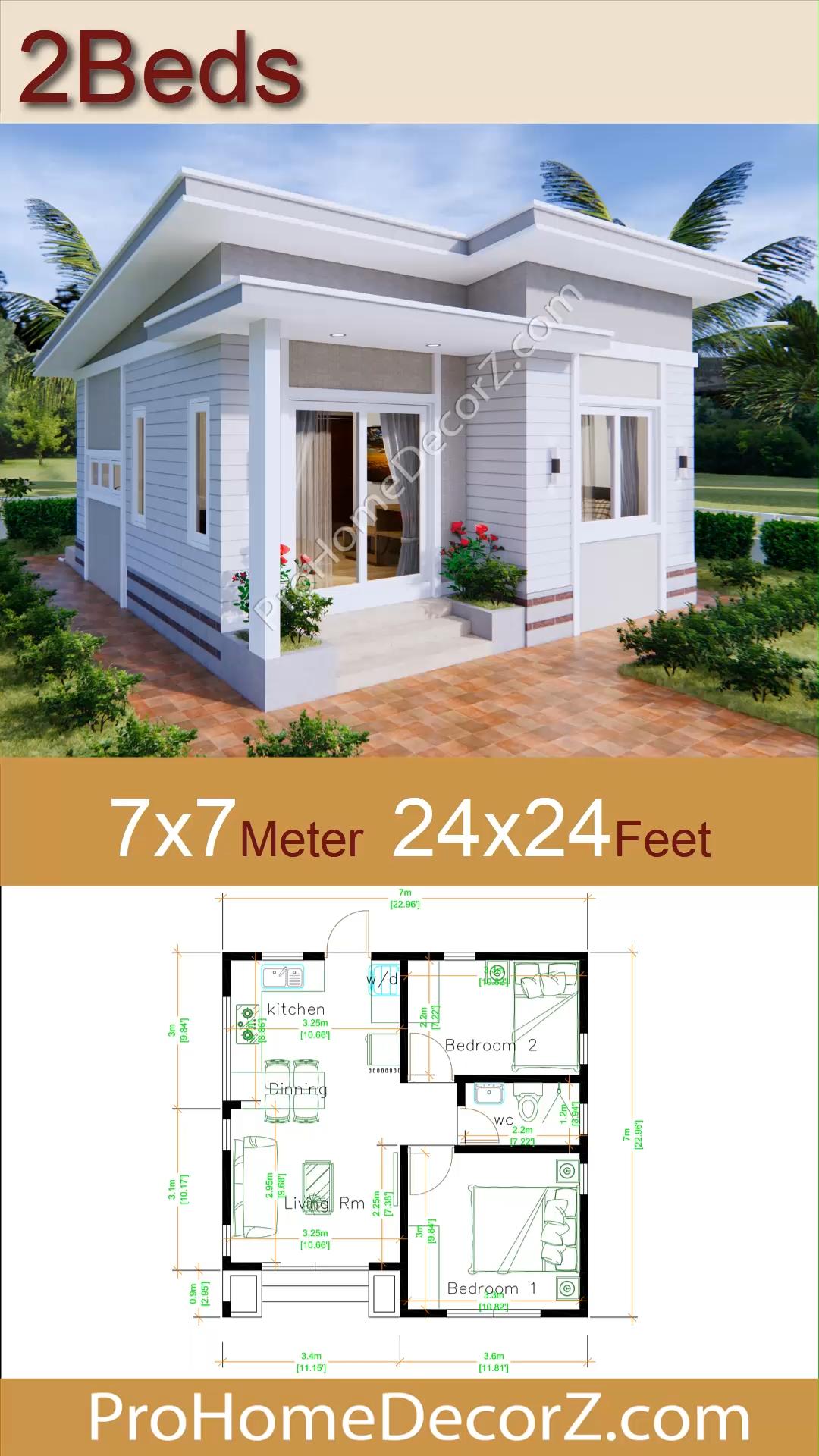 Photo of Modern Tiny Homes 7×7 Meters 24×24 Feet