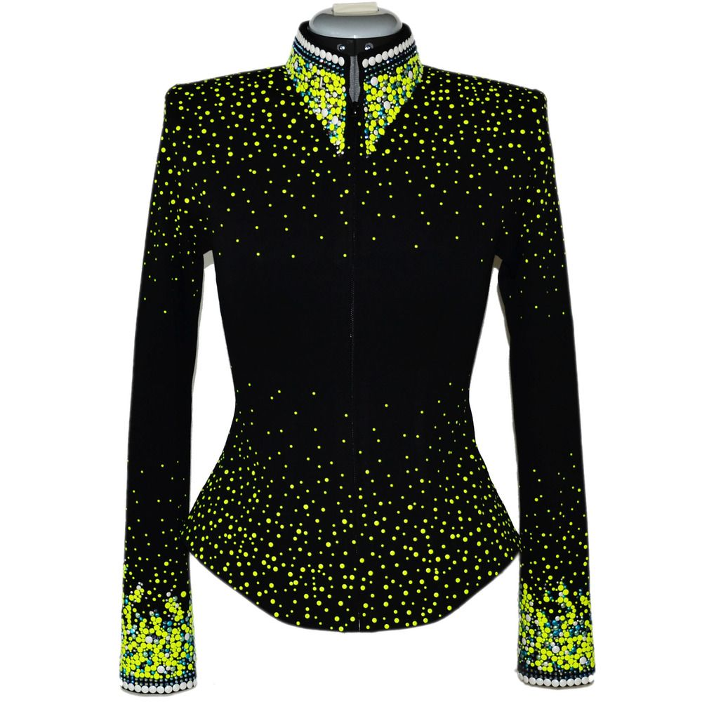 Lisa Nelle Show Clothing — Electric Lime Green Jacket XXS