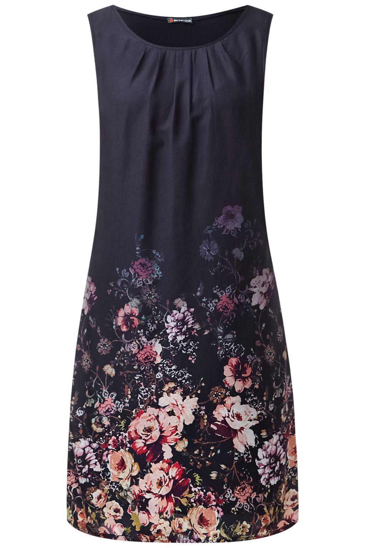 Kleid mit Rosensaum Ruby - Black