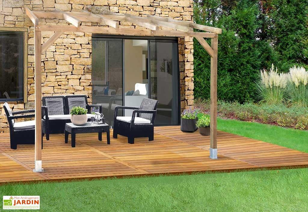 pergola en bois traité autoclave sans couverture 3x3m