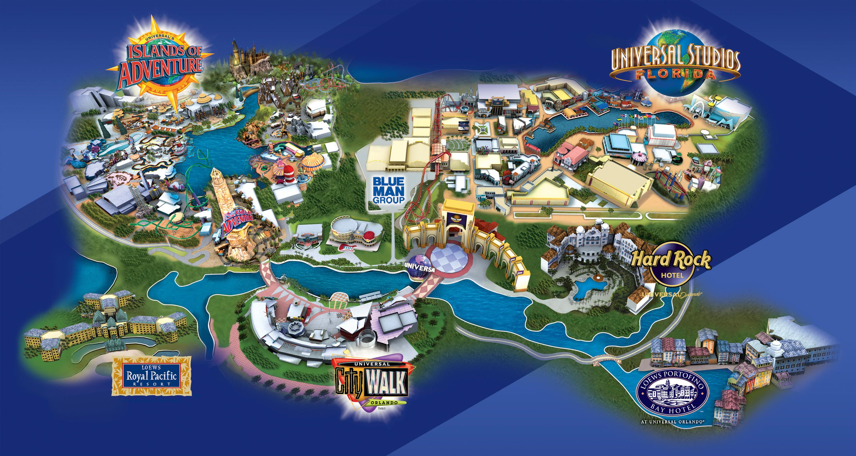 Universal studios orlando map 2015 universal orlando for A new image salon orlando