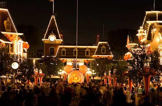 Halloween at Disneyland Main St USA Wonderful World of Disney