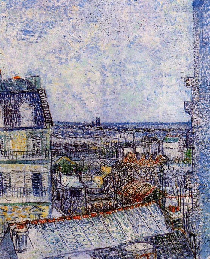 View of Paris from Vincents Room in the Rue Lepic by Vincent van Gogh #art