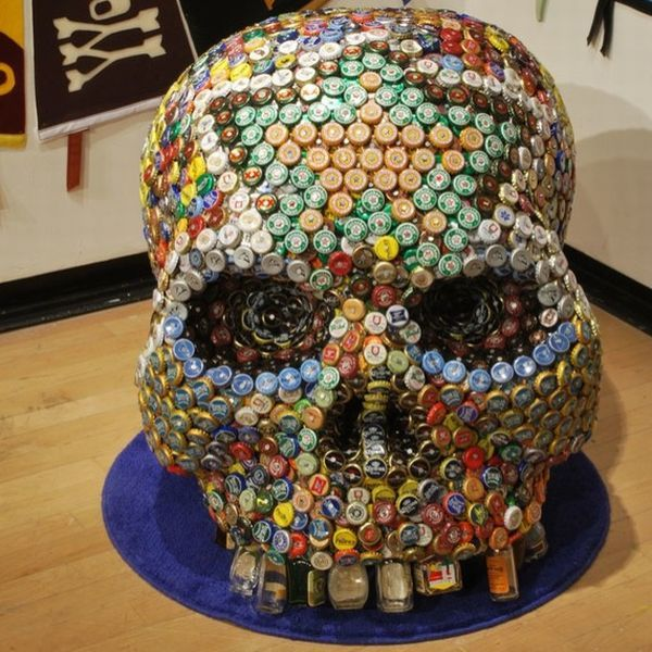 bottle cap furniture. bear bottle caps help make a human skull greendiary u2013 letu0027s go green cap furniture l