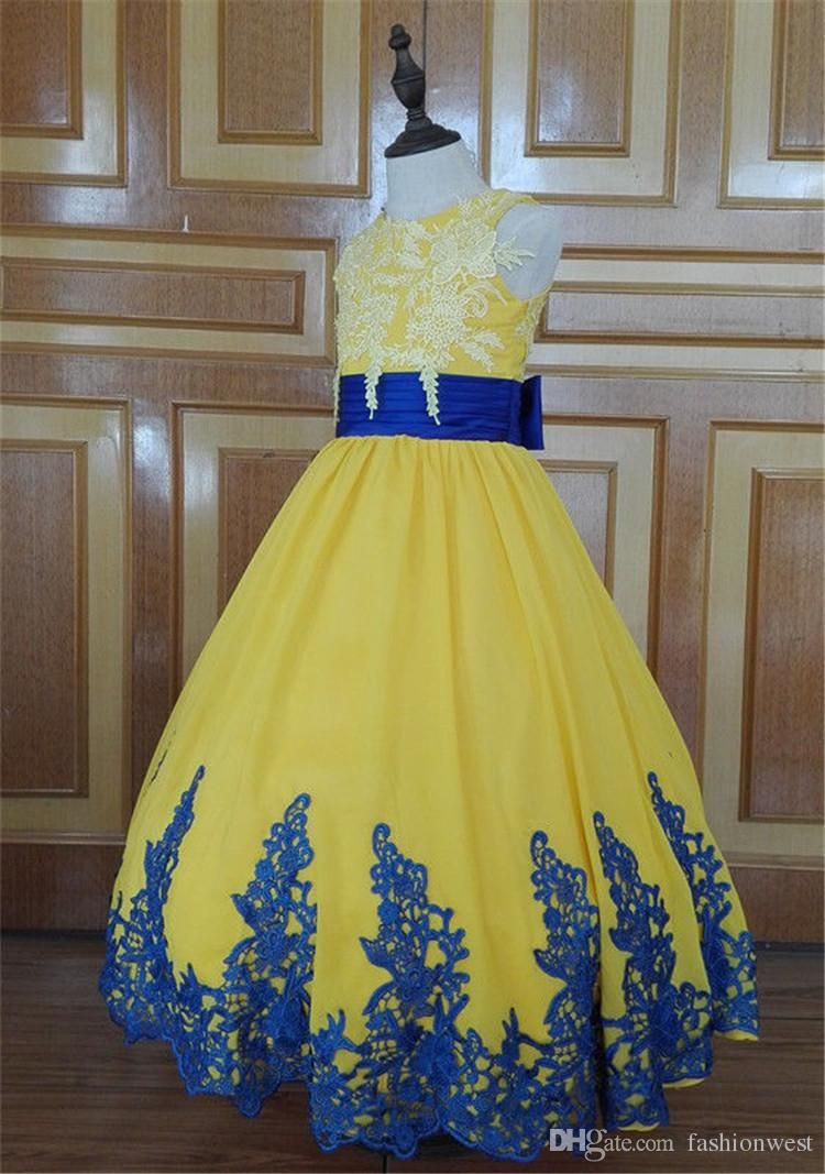 Cheap pageant dresses girls ball gown formal kids bridesmaid