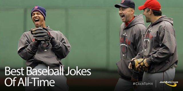 Conversation Jokes Knock Knock Jokes And One Liners The Justbats Team Has Compiled The Ultimate List Of The Best Bas Baseball Jokes Baseball Better Baseball