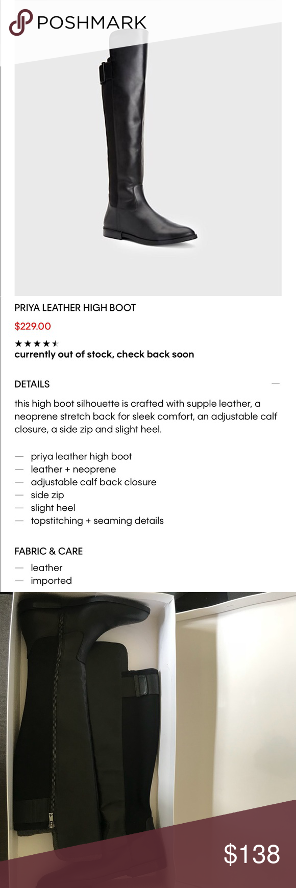 1c7609187d8 ✨Calvin Klein Priya leather high boot✨ Brand new! It will come in the
