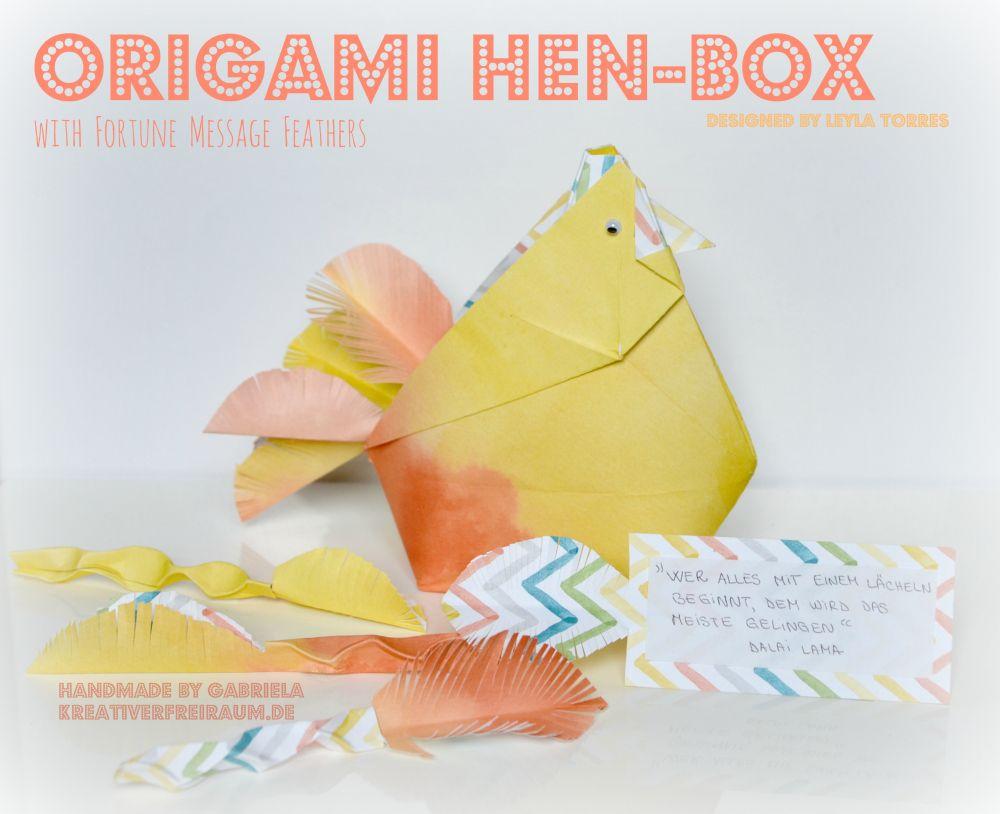 origami hen-box   designed by leyla torres   Stampin' Up!   kreativerfreiraum.de