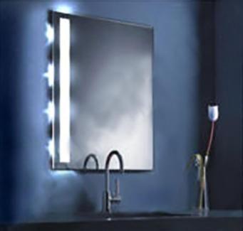 Badspiegel Berlin beleuchteter badspiegel glas milchglas designerspiegel 4 len in