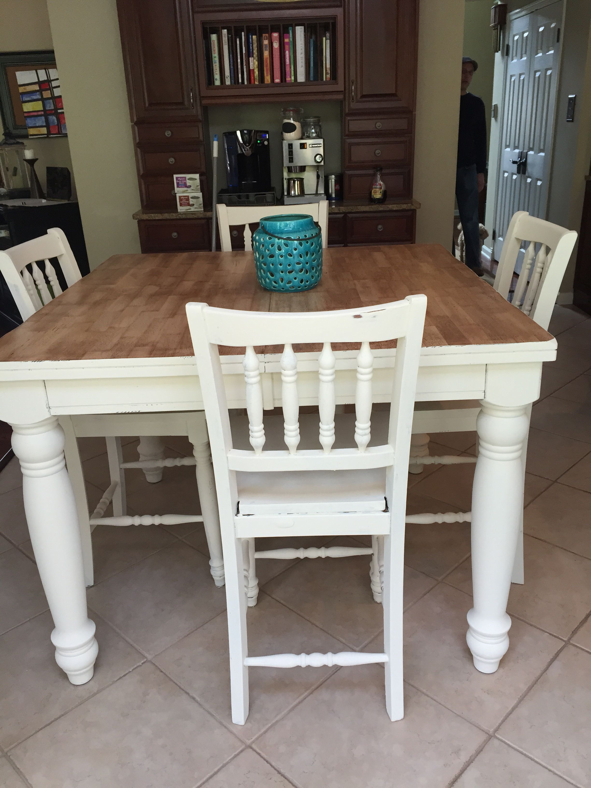 Superb Refinished Pub Table With Chalk Paint In 2019 Furniture Gmtry Best Dining Table And Chair Ideas Images Gmtryco