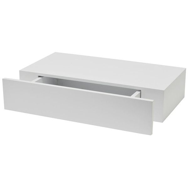 White 9 7 8 Inch X 19 Inch Shelf With Drawer Drawer Shelves Wall Shelf With Drawer Floating Drawer