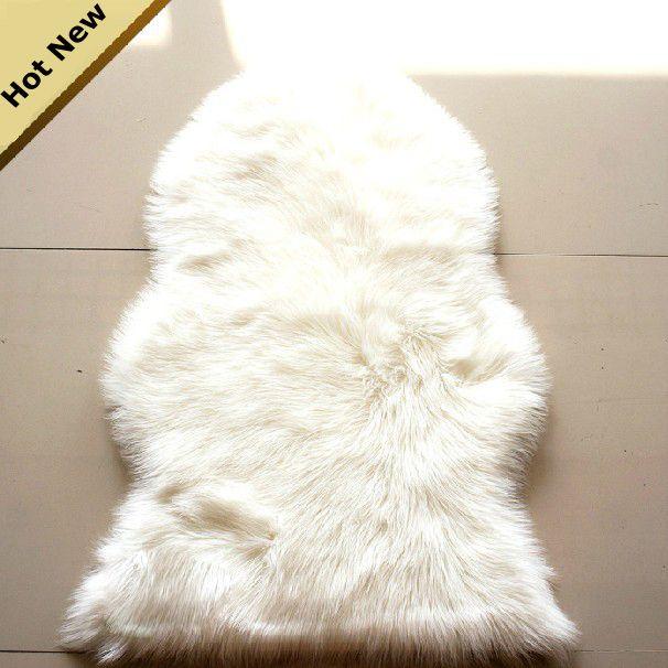 CR-22 60X90cm Luxury Faux Fur Carpet Soft Area Rug Chair