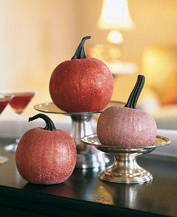 diy glitter pumpkins #halloween #fall #crafts