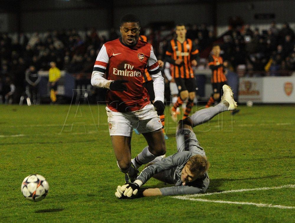 Akpom for Arsenal U19's vs Shakhtar Donetsk 2013-2014.