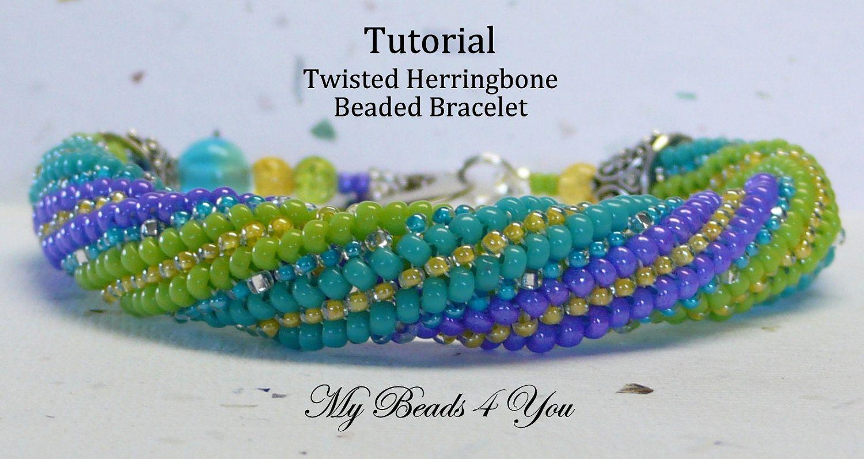 Twisted Herringbone (Tutorial to Buy)   Beading   Pinterest ...