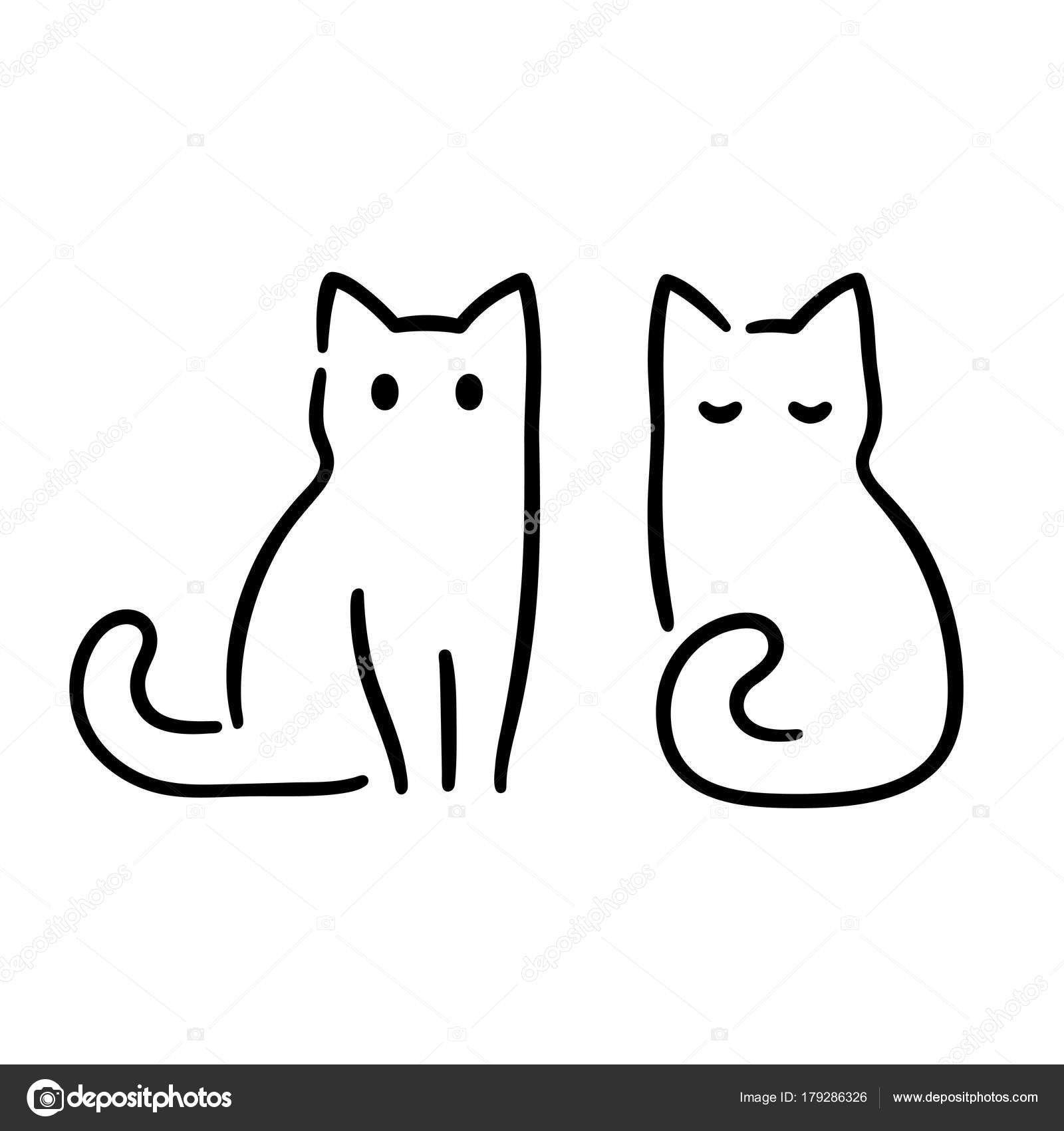 Einzigartig Katze Zeichnen in 2020   Einfache niedliche ...