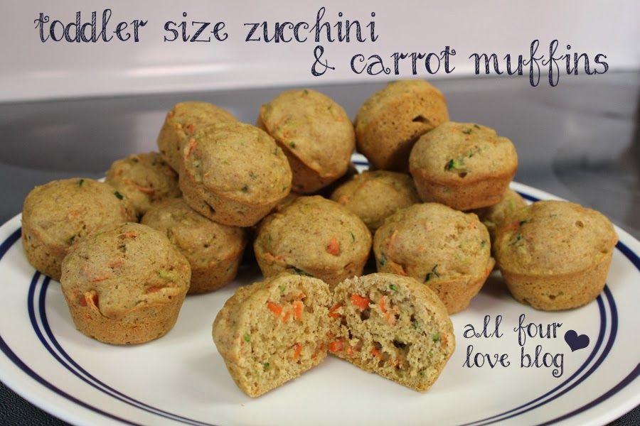 All Four Love: Zucchini Carrot Mini Muffins