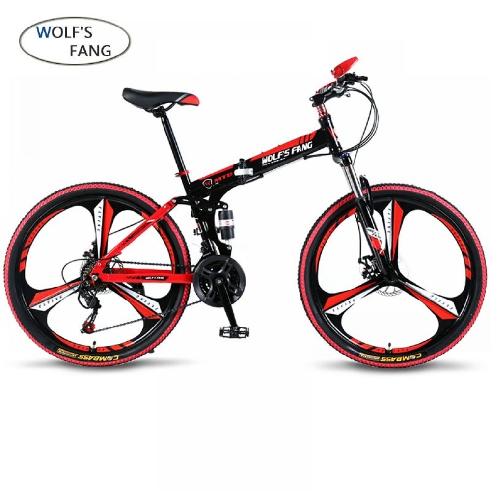 Wolf S Fang Bicycle 21 Speed 26 Inch Mountain Bike Folding With
