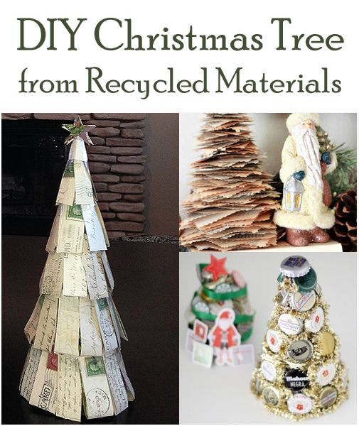 Diy Christmas Tree From Recycled Materials Diy Christmas Tree Christmas Stockings Diy Christmas Diy