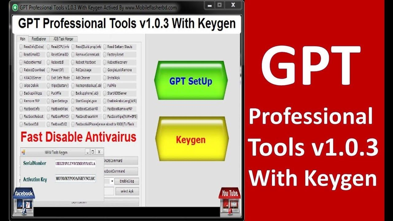 Gpt Professional Tools V1 0 3 With Keygen By Mobileflasherbd R Jonaki Te Professional Tools Youtube Asus