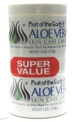 Fruit Of The Earth Aloe Vera Cream 4 Oz 4 Oz Jars Case Of 6 By Fruit Of The Earth 29 09 Aloe Vera Cream Skin Care Moisturizer Aloe