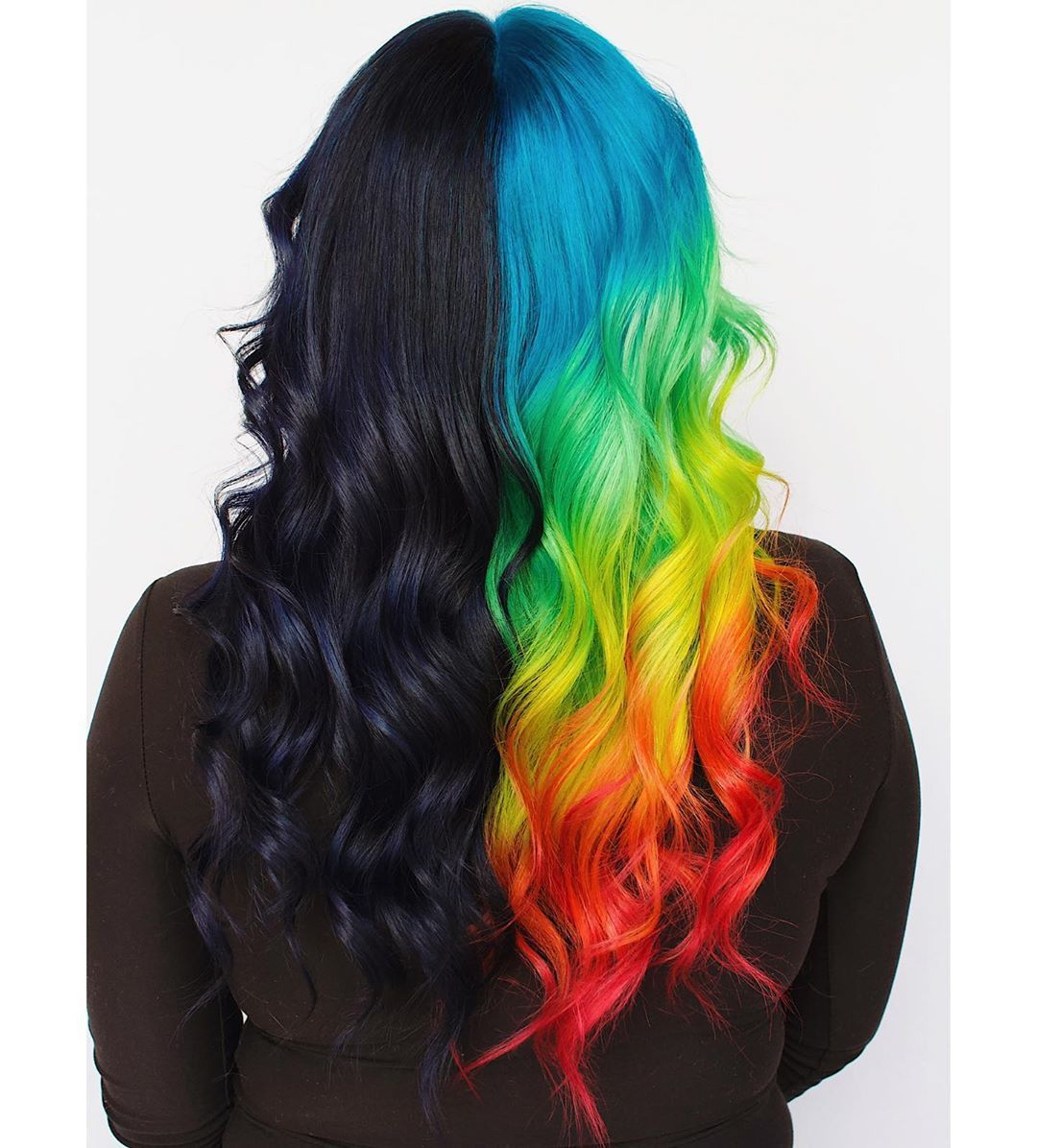 Denver Hair Colorist Isabelle On Instagram Unholy Pulpriothair Pulpriot Fallintotheriot H Split Dyed Hair Aesthetic Hair Rainbow Hair Color