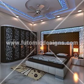 With This Phenomenally Luxurious Bedroom With Generous Use Of MDF - L shaped master bedroom designs