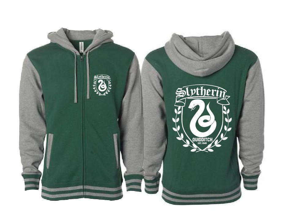 39c56cc8b Slytherin Quidditch Letterman Varsity Jacket Harry Potter Inspired  #Unbranded
