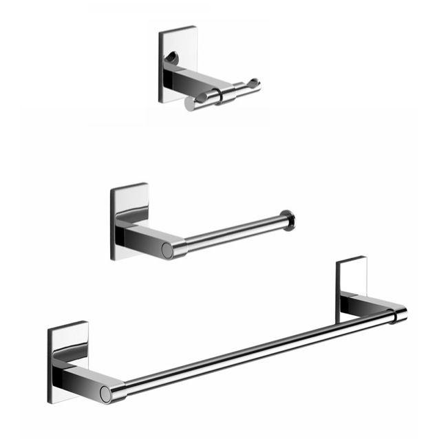 wall mounted bathroom accessories set. Bathroom Accessory Set  Gedy MNE321 13 Wall Mounted 3 Piece Chrome