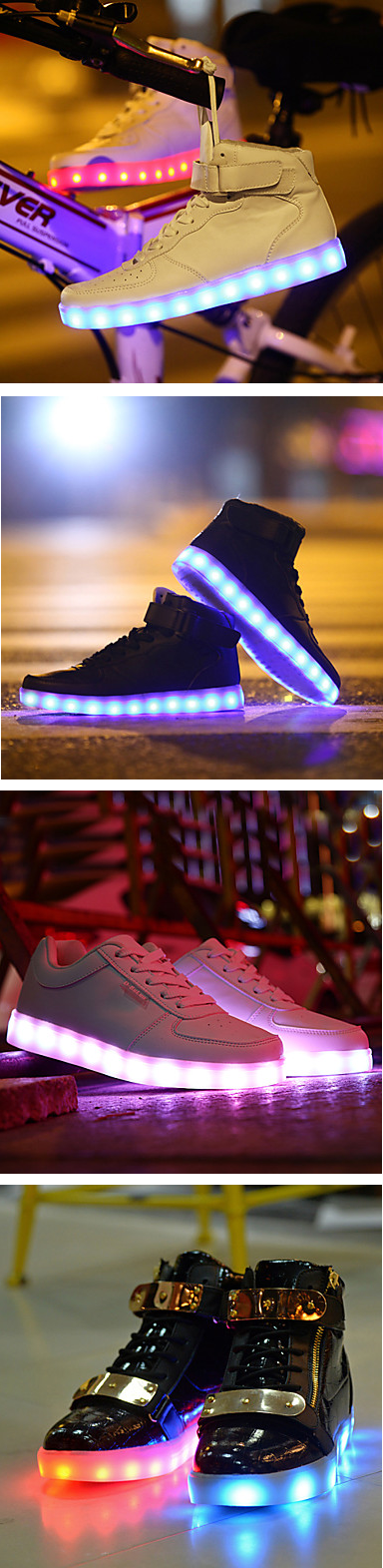 Be noticeable - wear new generation LED sneakers! Find a pair each for your family member and enjoy family walks together!  Explore all the choice we have by clicking on the picture.