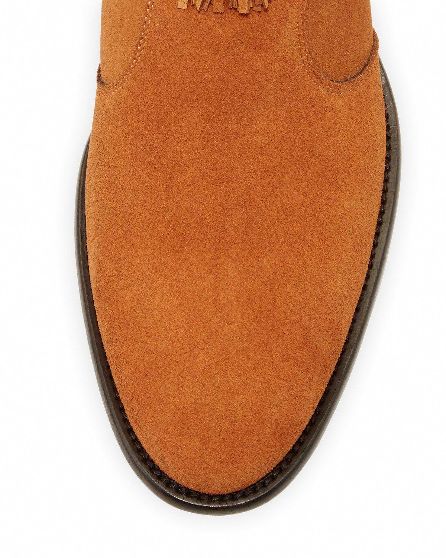 f2b1db6c10f2 Jimmy Choo Eric Men s Dry Suede Fringe-Trim Ankle Boot  JimmyChoo ...