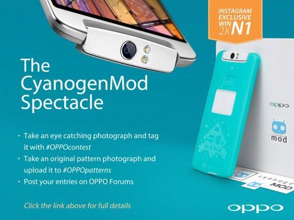 Vinci due Oppo N1 (CyanogenMod Edition e regolare) con uno scatto su Instagram! - http://mobilemakers.org/vinci-due-oppo-n1-cyanogenmod-edition-e-regolare-con-uno-scatto-su-instagram/