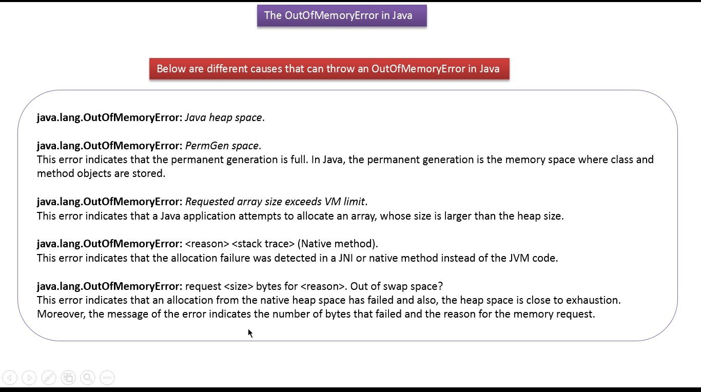 Java Tutorial Java Exception Handling Outofmemoryerror Array Size Exceeds Vm Limit With Images Java Tutorial Java Programming Tutorials Interview Questions And Answers