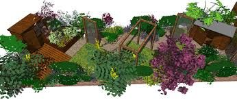 Short Wide Garden Design   Google Search