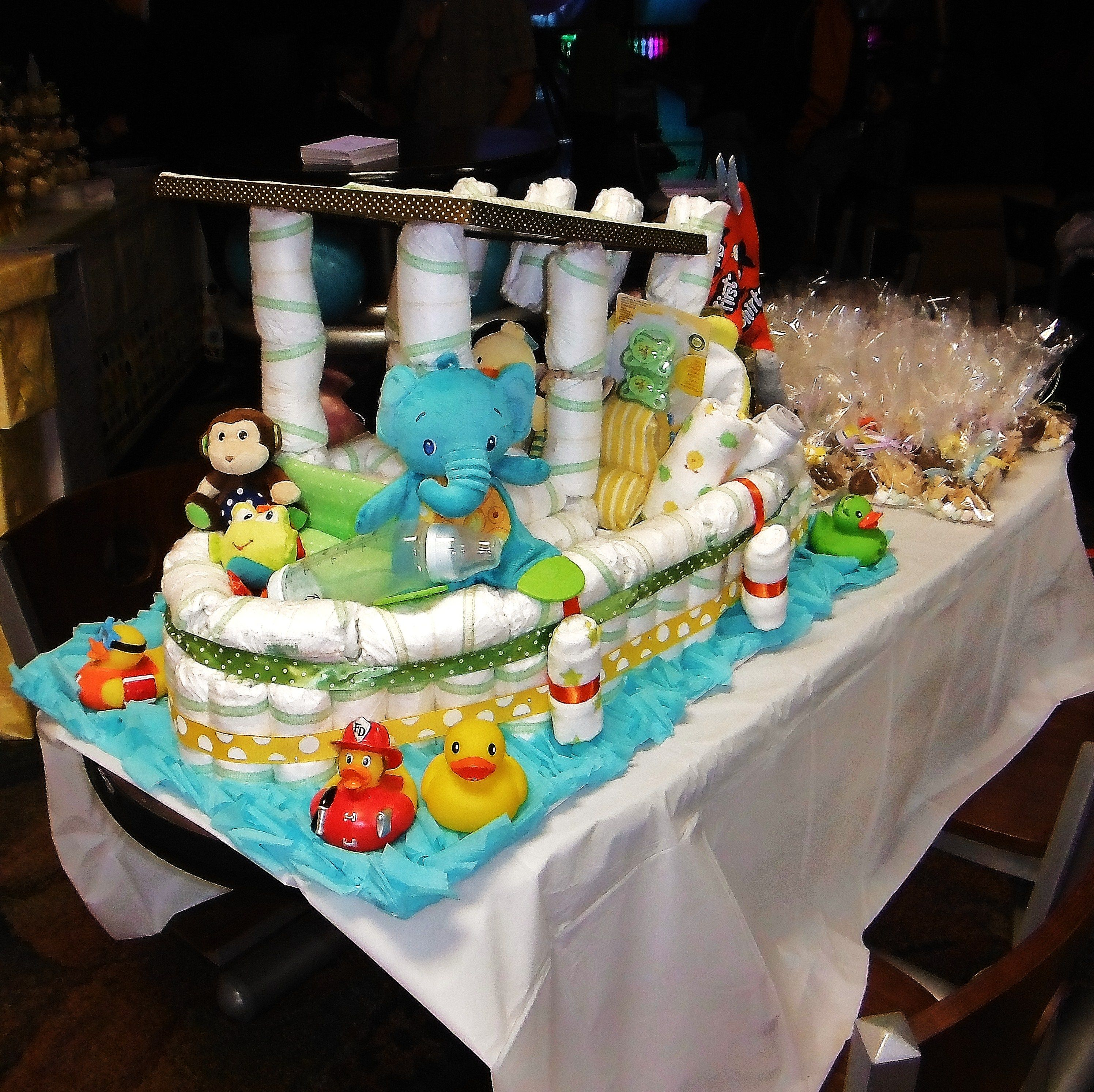 Fishing Boat Diaper Cake
