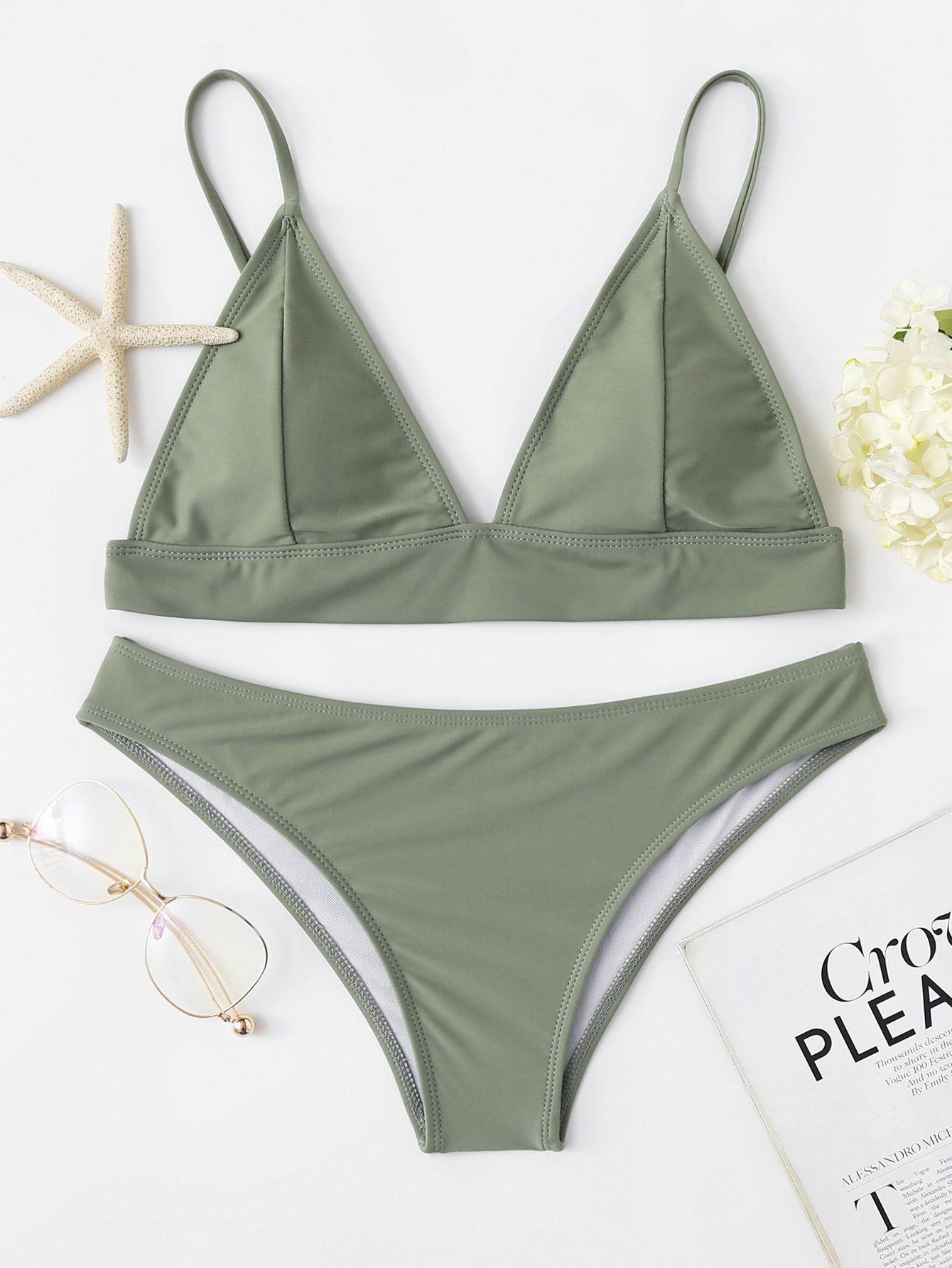 761e5af813 Shop Adjustable Straps Bikini Set online. SheIn offers Adjustable Straps Bikini  Set & more to fit your fashionable needs.