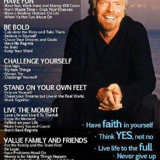 Richard Branson - life lessons - yes even a billionaire ...
